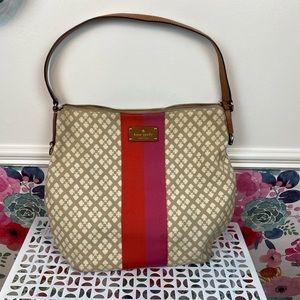 Kate Spade Diamond Stripe Slouchy Medium Hobo Bag